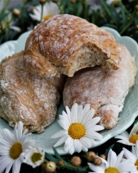 Mjuka knådfria bröd