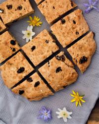 Plättlätt frukostbröd med russin